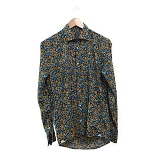 Grey Daniele Alessandrini Floral Button-Up Shirt